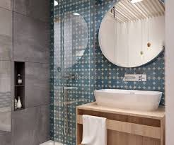 tiny bathroom design gray mod patterns and color small bathroom design ideas in