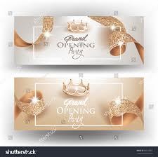 Elegant Invitation Cards Elegant Grand Opening Invitation Cards Textured Stock Vector
