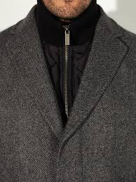 john lewis 2 in 1 wool blend coat in gray for men lyst
