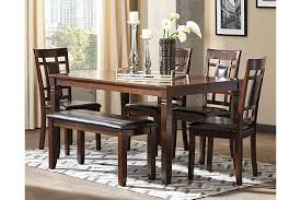 Bennox Dining Room Table And Chairs With Bench Set Of  Ashley - Ashley furniture dining table bench