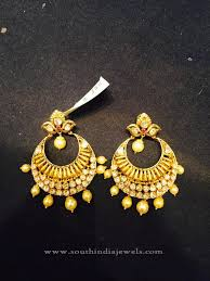 gold earrings design with weight 22k gold simple chandbali earrings design gold indian gold