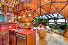 geodesic dome home interior californian builds awe inspiring geodesic dome home in