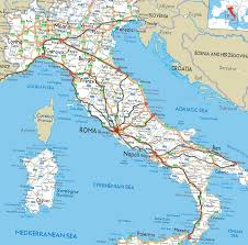 Roman Map Ancient Roman Roads Overlaid On A Modern Road Map Of Italy 1485