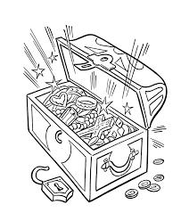 treasure box coloring coloring