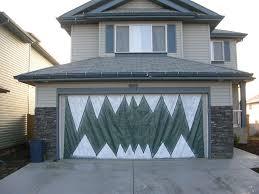 of homemade garage door halloween decorations halloween garage