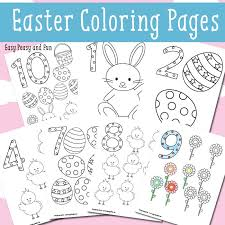 easter counting coloring pages easy peasy fun
