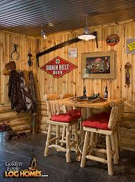 Rustic Basement Ideas How Rustic Perfect For Our Log Home Basement Especially The Tin