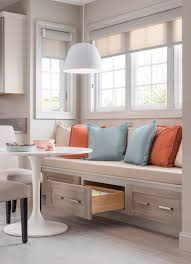 Built In Cabinets In Dining Room by Lovely Eat In Kitchen Is Filled With A Built In Dining Bench And