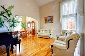 Latest C Shape Sofa Designs For Drawing Room Brown Wooden Wall Layers Built In Storage Shelves C Shape Sofa