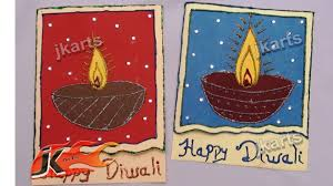 diy diwali greeting card how to make project for kids