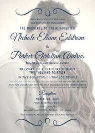 lds wedding invitations magnificent lds wedding invitation wording iloveprojection