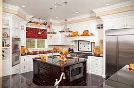 Red Black White Kitchen - black and white country kitchen home design ideas