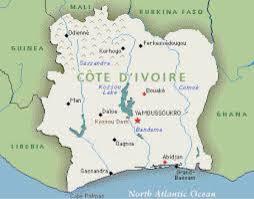 Ivory Coast Map Côte D U0027ivoire By Gabi Starks