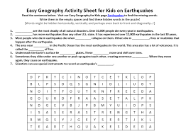 earthquake worksheets for kids free worksheets library download