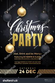 party poster merry christmas holiday club stock vector 525104590