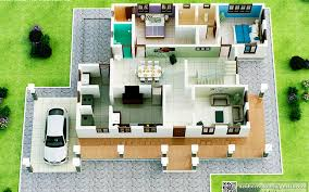 House Design With Floor Plan 3d 3d Plan 2d Plan House Planning Kerala House Designing Kerala
