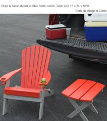 Ohio State Chair Outdoor Poly Furniture Ohio State College Game Day Poly