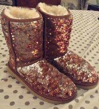 womens ugg boots used ugg australia sparkles shimmer 1002766