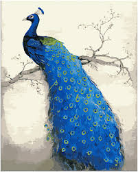 aliexpress com buy handwork gift peacock picture canvas diy