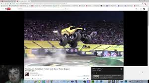 monster truck videos freestyle monster jam world finals 18 freestyle 1st reaction youtube
