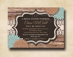 etsy wedding shower invitations rustic bridal shower invitation wedding shower invitation