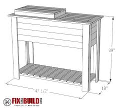 Patio Cooler Table How To Build A Patio Cooler And Grill Cart Combo Fixthisbuildthat