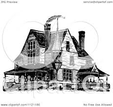 Queen Anne Style by Clipart Of A Retro Vintage Black And White Victorian Queen Anne