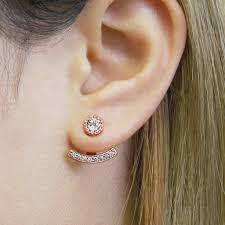 jacket earrings gold and topaz ear jacket earrings by embers gemstone