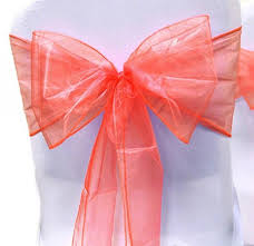 wedding chair bows chair sashes wedding chair sashes chair bows coral organza pew