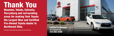 nearest toyota dealership new and used toyota dealership in maumee yark toyota