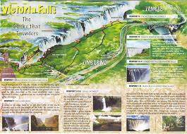 Victoria Falls Map Africa 101 Wonders Of The World