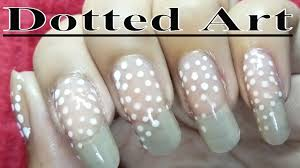 fast and easy dotted nail polish designs at home youtube