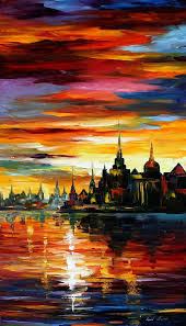 paint dream i saw a dream palette knife oil painting on canvas by leonid