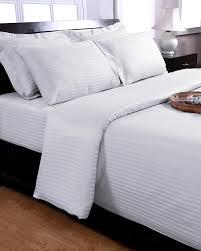white egyptian cotton satin stripe oxford pillowcase 330 tc