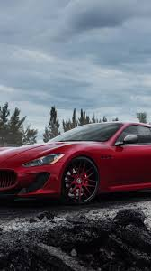gran turismo maserati red download wallpaper 750x1334 maserati granturismo mc red side