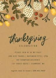 friendsgiving invitations thanksgiving invitations orange