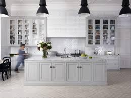 Black Kitchen Lights Greige Painted Kitchen Black Lights White Handmade Tiles