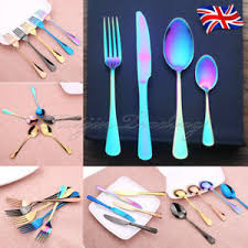 unique cutlery uk 4 pcs iridescent unicorn stainless steel cutlery set unique