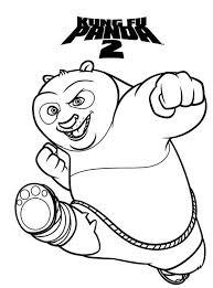amazing dragon warrior kung fu panda coloring download