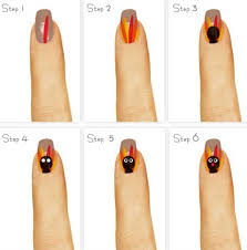 tutorial for the best thanksgiving turkey on design easy step by step thanksgiving nail tutorials for beginners