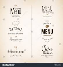 label logo set restaurant menu design stock vector 177360527