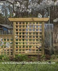 Trellis 8 Building An Arbor Style Trellis Growing The Home Garden