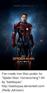 Robert Memes - robert downey jr spider man july 7 fan made iron man poster for