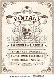 vintage looking invite template party event stock vector 418568275