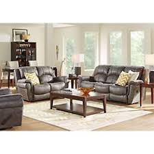 Rooms To Go Living Rooms - shop for a cindy crawford home gianna gray leather 2 pc living