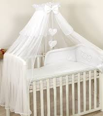 luxury canopy drape free staning holder baby cot bed rod