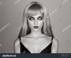 white halloween makeup halloween makeup without eyesyoung blond stock photo