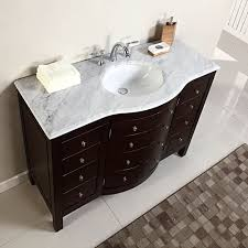Single Sink White Marble Top Bathroom Vanity Cabinet Bath - 48 white bathroom vanity cabinet