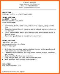 Housekeeper Resume Sample by Housekeeping Resume Sop Example
