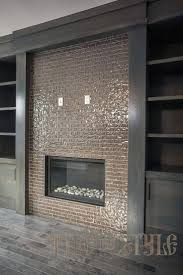 fascinating glass tile fireplace mosaic surround tiles wall images